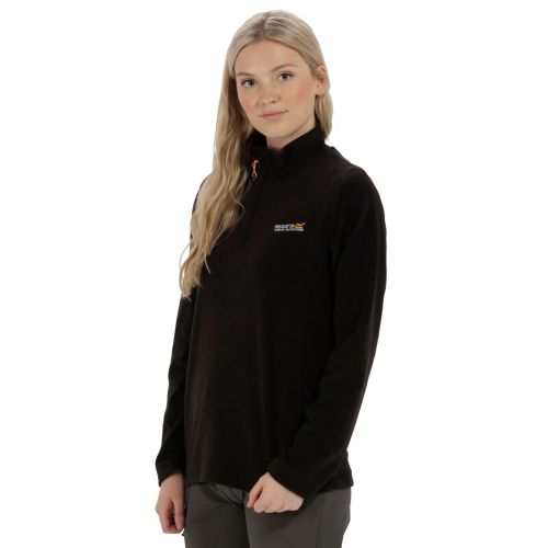 Regatta SWEETHART HALF ZIP LIGHTWEIGHT FLEECE - Black (Blackcurrant)